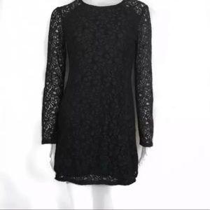 TALULA Black Lace Dress Back See Through Sz 4